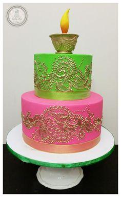 Mehendi/Henna Cake - Cake by Spring Bloom Cakes