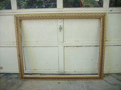 extra extra large vintage gold ornate wood 41 x 53 frame 22500 - Extra Large Frames