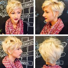 Wintertrend 2015: Zonnige blonde korte kapsels - Kapsels voor haar