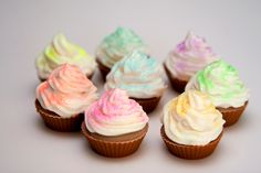Rainbow Cupcake Soap, at Sorcery Soap by the Soap Witch °╰☆╮゜