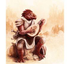 m Dragonborn Bard Lt Armor Lute Sword Farmland Road med Fantasy Races, Fantasy Rpg, Medieval Fantasy, Female Dragonborn, Dnd Dragonborn, Character Portraits, Character Art, Character Design, Character Counts