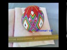 """TL135. How to make a Temari """"2 division Sakura Hina-doll""""."""