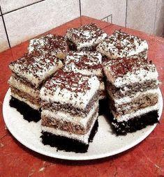 Csíkos szelet, ennél fenségesebb sütit el se lehet képzelni! Nem győzzük enni! Poppy Cake, Tiramisu, Oreo, Food And Drink, Sweets, Cookies, Baking, Ethnic Recipes, Gardening