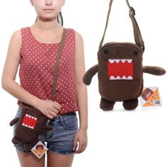 Lovely Domo Kun Plush Mini Handbag Phone Pouch Card Bag Wallet Purse 7*5'' New #Generic