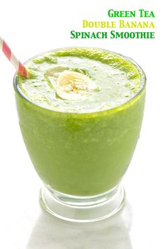 Green Tea Double Banana Spinach Smoothie