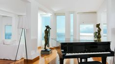 Guestroom piano- esculturas de Casa Angelina, resort - Amalfi