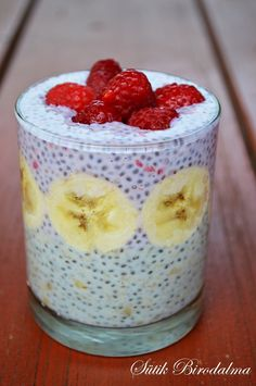Chia Puding, Sin Gluten, Banana Chia Pudding, Healthy Desserts, Healthy Recipes, No Salt Recipes, Health Eating, Pudding Recipes, Sweet Desserts