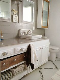 Sink From Junk Store Serves as Inspiration: After   Best Bath Before and Afters 2013   This Old House