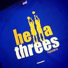 Golden State Warriors Basketball Hella shooters