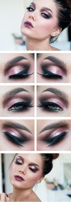 Tue.Sep.10/13, LINDA HALLBERG : TODAYS LOOK - UTOPIA. Ive used ... EYES: NYX Eyeshadow base, Anastasia Lavish palette, MUS Blush Pink Reef, MUS Cake eyeliner black, MUS Eyepencil black, MUG pigment Utopia, Isadora WigWham mascara, Eldora B194 false lashes. LIPS: MAC Sweet Suculence. CHEEKS: MUS Blush Pink Reef, MUS wonder powder Sinai