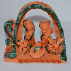 Costa Rica Pottery Clay Christmas Creche Nativity Manger 1 Piece Shelf Primitive   eBay
