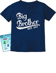 TeeStars - Gift for Big Brother 2017 Toddler/Infant Kids T-Shirt 3T Navy. FREE Exclusive TeeStars BIG BROTHER stickers only when you buy from Teestars! Great gift for big brothers!. Big brother printed tee. OUTSTANDING FABRIC QUALITY! Printed exclusively in the USA. Gifts to Give Older Siblings becoming the big brother. Good for Birth announcement, baby shower and birthdays. Gift for son / grandson for birthday, Christmas or any day!. SUPER FAST SHIPPING! 100% MONEY BACK GUARANTEE. For...