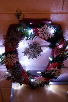 #4 - Snowflake toilet seat wreath