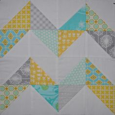 4x5 Bee Block by creationsbyrachel by Stitch 'n' Bits, via Flickr colour love