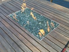 Propane Fire Table With Glass Rocks