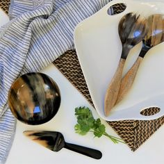 Adorn your table with unique and ethically sourced table & serveware; hand thrown ceramics, bowls, salad servers and more.