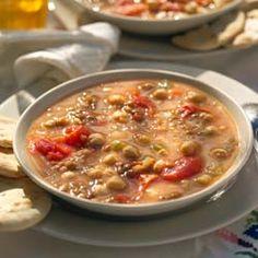 Potage of Lentils and Garbanzos - Potaje de Lentejas y Garbanzos - Simple, Easy-to-Make Cuban, Spanish, and Latin American Recipes with Photos