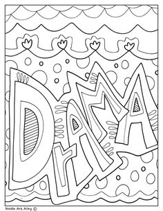 Subject Cover Pages Coloring Pages - Classroom Doodles Dance Coloring Pages, Colouring Pages, Binder Covers, Notebook Covers, School Book Covers, Drama Masks, Drawing School, Projects For Adults, Writing