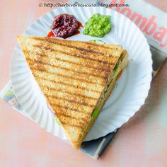 Herbivore Cucina: Vegetable and Cheese Grilled Sandwich..Replicated the famous triangle sandwich at home. Made from scratch, this triple sandwich is simply fabulous. Post includes notes to  make your own bread mold.