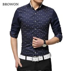 Fair price Plus Size 5XL 2016 New Men Dress Shirt Brand Tuxedo Shirt Print Long Sleeve Polka Dot Pattern Cotton Shirts Mens Clothing just only $13.63 with free shipping worldwide  #shirtsformen Plese click on picture to see our special price for you