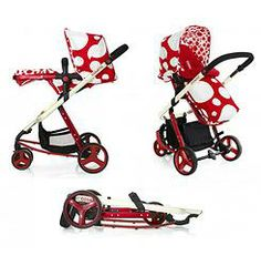 Cosatto Giggle 3 in 1 Combi Pushchair - Red Bubble
