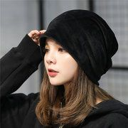 High-quality Women Gold Velour With Diamond Stretch Turban Hat Casual Warm Solid Beanie Cap - NewChic Mobile