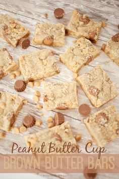 Peanut Butter Cup Brown Butter Bars are so soft and delicious with a great texture.