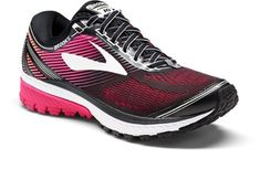 Brooks Women s Ghost 10 Road-Running Shoes Black Pink Peacock 10.5 Wide  Running Tips 67645d3e3