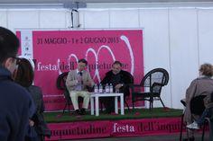 """#festainquietudine #finaleligure #liguria Il professor Valerio Meattini e il dottor Edoardo Boncinelli durante il dibattito """"Etica e scienza, un dialogo impossibile?"""""""