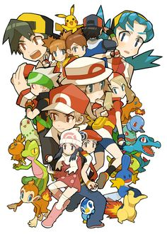 The pokemon trainer through out the years Gold Pokemon, Pokemon Team, Pokemon Fan Art, Pokemon Ships, Pokemon Games, Pokemon Manga, Pokemon Comics, Digimon, Satoshi Pokemon