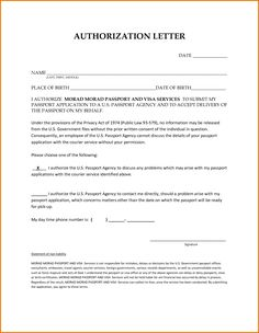 letter behalf authorization pdf sample someone best free home design idea inspiration