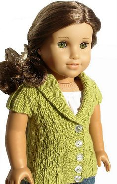 Ravelry: Olive Cardigan For 18 Inch American Girl Doll pattern by Steph Wylie