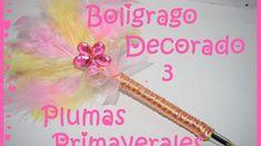 Bolígrafo Decorado #3 - Plumas Primaverales - DIY
