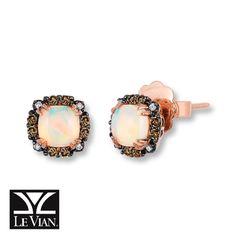 Le Vian Opal Earrings 1 8 Ct Tw Diamonds 14k Strawberry Gold