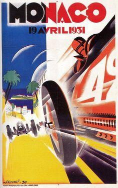 Affiche Grand Prix de Monaco 1931 - Robert Falcucci (1900-1989) - simi25