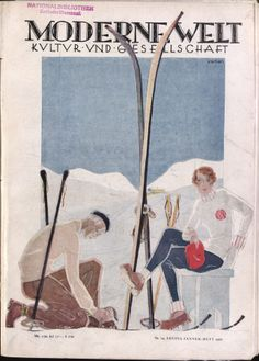 January 1928 cover of Moderne Welt magazine.