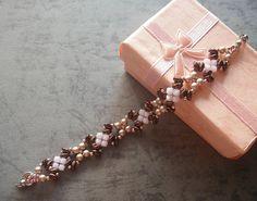 Rose Bronze Superduo Bracelet Tutorial