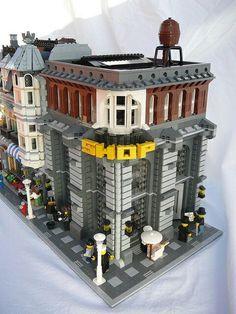 LEGO old town street corner.