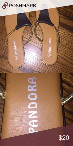 Pandora sandals Worn 2 times, great condition, size 7 in woman's Pandora Shoes Sandals