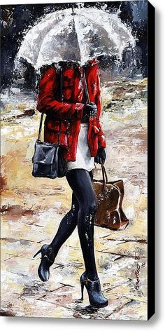 Rainy Day - Woman Of New York 09, by Emerico Toth