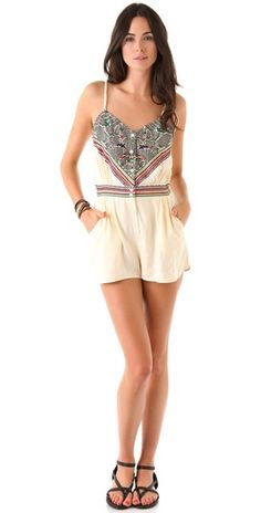 Mara Hoffman Embroidered Romper love $220  too pricey for my budget---but i would love a romper for each day of the month!  i love to romp!