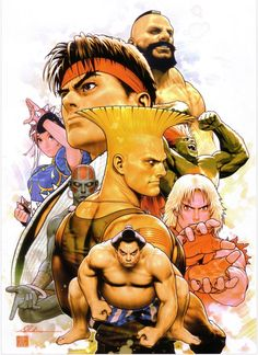 STREET_FIGHTER_-_ETERNAL_CHALLENGE_Hard_Cover_by_Shinkiro