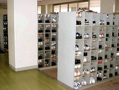 Japanese people remove their shoes before entering a home ... However, they also follow the same custom when entering certain public buildings like schools. Students, teachers & visitors take off their shoes just inside the entrance & put on special indoor shoes.  Japanese public schools do not employ janitors - instead the education system require students to clean the school themselves thus instilling pride, responsibility & ownership. Our kids had a wonderful time cleaning too!