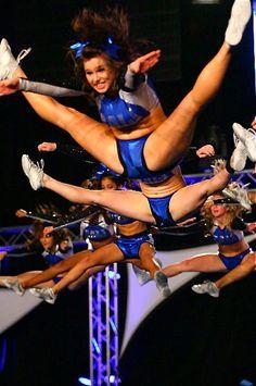 cheer, cheerleading and jumps image on We Heart It Cheer Jumps, Cheerleading Jumps, College Cheerleading, Cheer Stunts, Cheerleading Outfits, Cheerleader Girls, Cheerleading Pyramids, Cheerleading Photos, Cheer Athletics