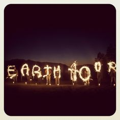 Light Writing for Earth Hour