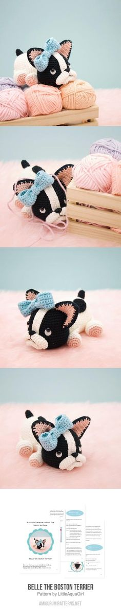 Belle The Boston Terrier Amigurumi Pattern