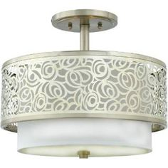 "Check out the Quoizel JS1715BN Josslyn 13"" 2 Light Medium Semi Flush Mount in Brushed Nickel priced at $299.99 at Homeclick.com."
