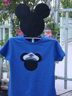 Mickey Mouse Head with Cruise Ship / Captain / by knorried001, $13.00