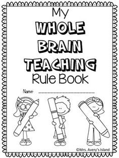 Are you a Whole Brain teacher?  If so, take advantage of this FREE Whole Brain Teaching rule booklet!  After teaching your students the WBT rules, your students can create a coloring booklet and provide a constructed response to the different rules!  No doubt they will put their WHOLE HEART into their WHOLE BRAIN booklet!Simply download these black and white ink saving pages, staple, and let your students put their coloring skills to work on this back to school booklet!