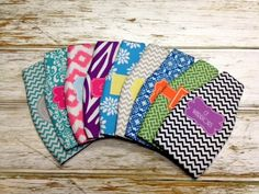 Monogrammed Bottle Koozie - You choose pattern, colors & font/monogram style - Fun colors and patterns - Mothers Day gift idea - gifts for her - summer koozie - monogrammed koozie - personalized or custom koozie for bottle - handmade and made in america